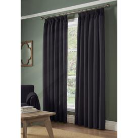 image-Janis Pencil Pleat Blackout Thermal Curtains Brayden Studio Panel Size: 155 W x 229 D cm, Colour: Charcoal