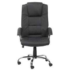 image-Houston Black High Back Leather Executive Office Chair