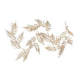 image-Gisela Graham - Fern Leaf Christmas Garland - Matt Gold
