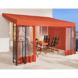 image-Romana 4m x 3m Steel Permanent Gazebo Quick-Star Includes side walls: Yes