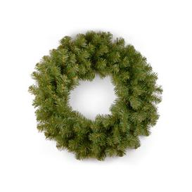 """image-North Valley Spruce PVC Artificial Christmas Wreath 24"""" by National Trees"""