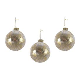 image-A by AMARA Christmas - Sequin Bauble - Set of 3 - Light Gold