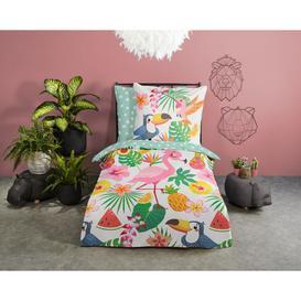 image-Bed linen 120x150 Kids East Urban Home No.30009 Multi in , 100 x 135cm - 1 Pillowcase (60 x 70 cm)