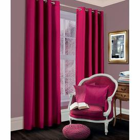 image-Geise Grommet Eyelet Room Darkening Thermal Curtains Brayden Studio Colour: Fuchsia, Size per Panel: 167 W x 183 D cm