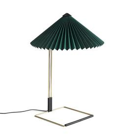 image-Matin Large Table lamp - / LED - H 52 cm - Fabric & metal by Hay Green,Polished brass
