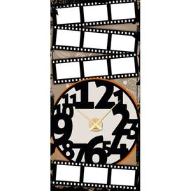 image-Analogue Wall Sticker Clock East Urban Home Paint: Gold