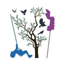 image-Children Swinging Wall Sticker