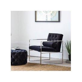 image-Hudson Living Sergio Velvet Armchair / Black