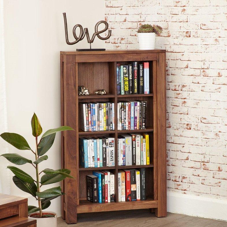 image-Mayan Walnut Furniture Open DVD CD Storage Cabinet