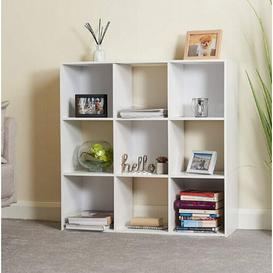 image-9 Cube Wooden Bookcase Symple Stuff Colour: White