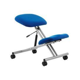 image-Malmo Kneeling Chair Silver Frame, Blue