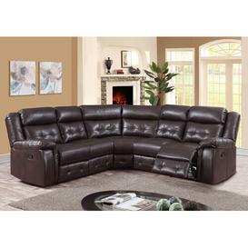 image-Brundidge Reclining Corner Sofa Ophelia & Co. Upholstery: Espresso