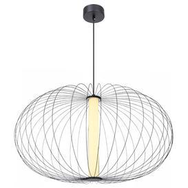 image-Montello 1-Light Globe Geometric LED Pendant Ebern Designs Size: 120cm H x 12cm W x 12cm D