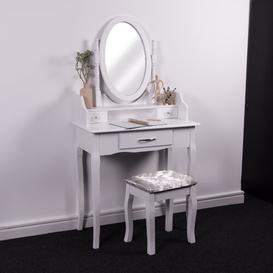 image-Chriopher Dressing Table Set with Mirror Lily Manor