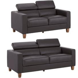 image-Arcelia 2 Piece Sofa Set Ebern Designs Upholstery Colour: Brown