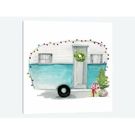image-'Christmas Cars II' by Jennifer Paxton Parker Graphic Art Print on Wrapped Canvas Urban Designs Size: 66.04cm H x 66.04cm W x 3.81cm D