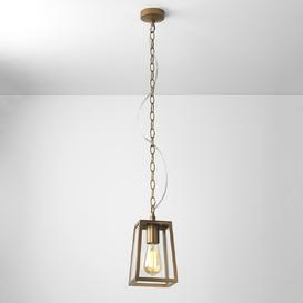 image-Astro 1306006 Calvi One Light Outdoor Lantern Style Ceiling Pendant Light In Antique Brass