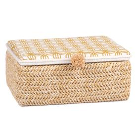 image-White jewellery box with yellow graphic design