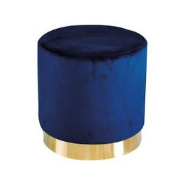 image-Lara Velvet Pouffe In Royal Blue