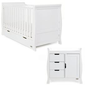 image-Stamford Classic 2-Piece Nursery Set Obaby Colour: White