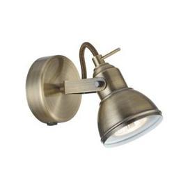 image-Focus Wall Spot Light In Antique Brass