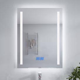 image-Argueta Fog Free Bathroom Mirror with Shaver Socket Wade Logan