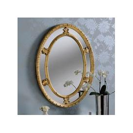 image-Yearn Decorative Oval Mirror 86x66cm Gold Gold