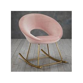 image-Stella Rocking Chair In Vintage Pink With Golden Legs