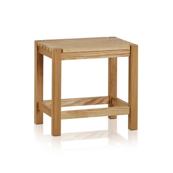 image-Handmade 100% Solid Natural Oak Dressing Tables - Dressing Stool - Oakdale Range - Oak Furnitureland