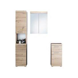 image-Amanda LED Bathroom Mirror And Storage In Knotty Oak