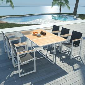 image-Liya 6 Seater Dining Set Dakota Fields