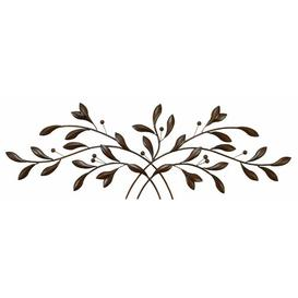 image-Metal Leaf with Berries Wall Decor Marlow Home Co.