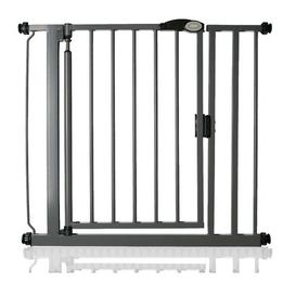 image-Arias Pressure Mounted Pet Gate Archie & Oscar Size: 139.8cm - 146.8cm, Finish: Grey