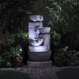 image-Timmins Polystone Fountain with LED Light Sol 72 Outdoor