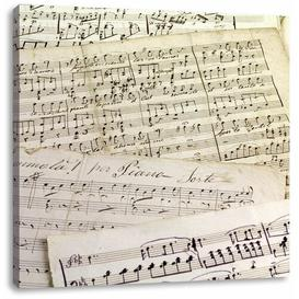 image-Stylish Old Sheet Music Art Print on Canvas East Urban Home Size: 70cm H x 70cm W