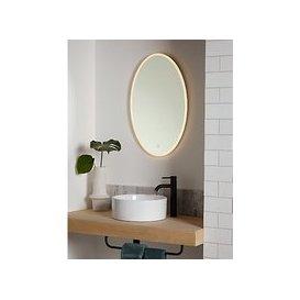 image-John Lewis & Partners Aura Wall Mounted Illuminated Bathroom Mirror, Oval