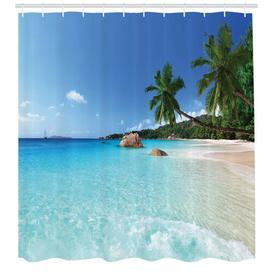 image-Travel Polyester Shower Curtain East Urban Home Size: 220cm H x 175cm W
