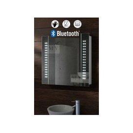 image-Galactic Illuminated LED Bluetooth Bathroom Mirror Cabinet