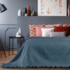 image-Niglaes Bedspread Mercury Row Colour: Petrol, Size: W240 x L260cm