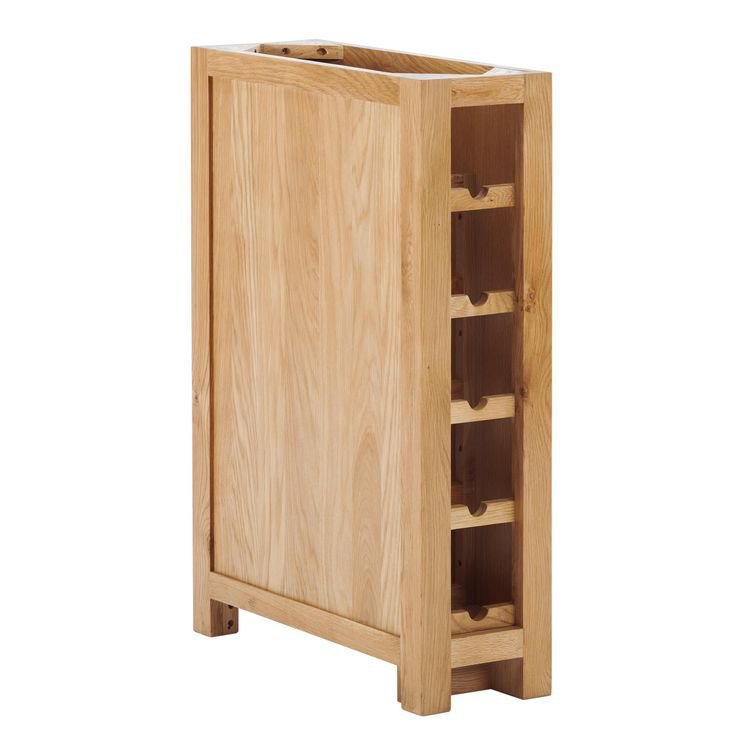 image-Handmade Oak Kitchens Furniture Wine Rack with back stop wall