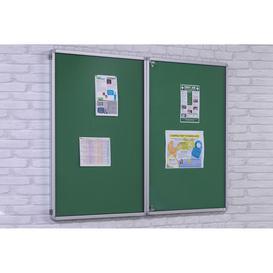 image-Flameshield Tamperproof Noticeboard, Green