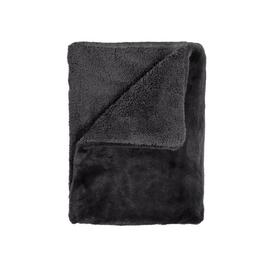 image-Frederickson Fake Rabbit Blanket Fairmont Park Colour: Black