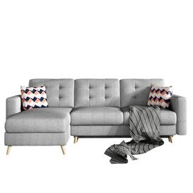 image-Christopher Reversible Sleeper Corner Sofa Selsey Living Upholstery Colour: Grey