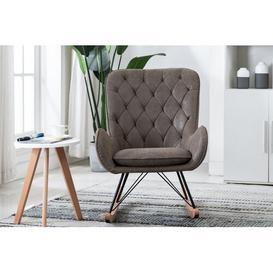 image-Ashley Rocking Chair Ophelia & Co. Colour: Grey