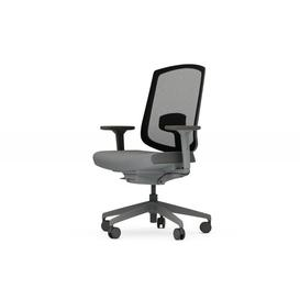 image-Dalton Ergonomic Mesh Task Chair Senator Frame Colour: Black, Back Colour: Fog, Upholstery Colour: Momentum Origin Iron