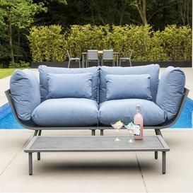 image-Alexander Rose Beach Garden Flint 2 Seater Sofa & Pebble Coffee Table