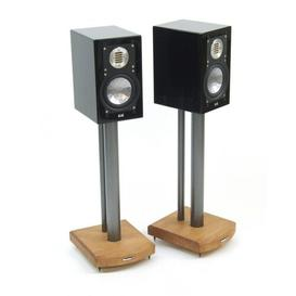 image-50cm Fixed Height Speaker Stand Symple Stuff Finish: Silver/Medium Bamboo