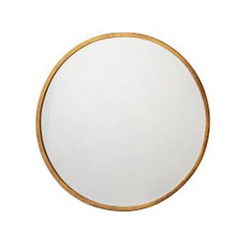 image-Newport Round Mirror in Antique Gold, Small