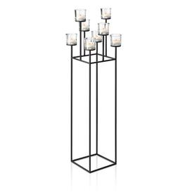 image-Nero Glass and Metal Candelabra Blomus
