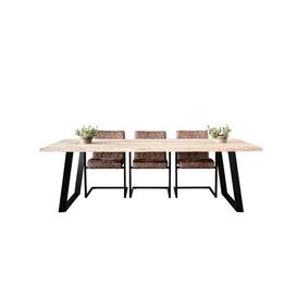 image-Knutsford Dining Table Borough Wharf Size: H76.5  x L220 x W100cm